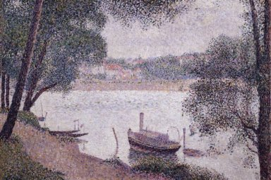 River Landscape With A Boat 1884