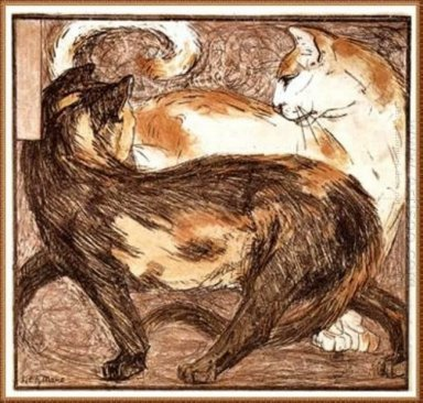 Two Cats 1909