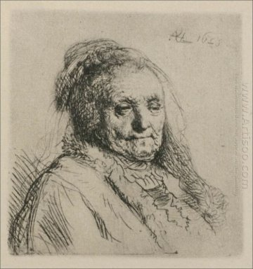 Bust Of An Old Woman Rembrandt S Mother 1628