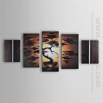 Hand Painted Oil Painting Landscape - Set Dari 5 1211-Ls0231
