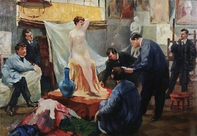 Statement Of The Model In The Studio Of Ilya Repin 1899
