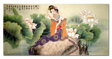 Lotus Fairy-Chinese Painting