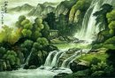 Waterfall - Chinese Painting