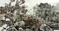 Chinese village- Chinese Painting