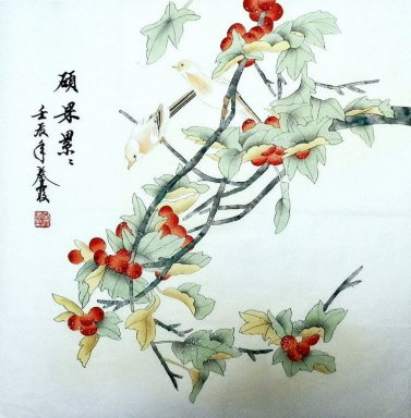 Fruits&Birds - Chinese Painting