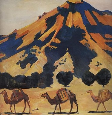 Mount Abul And Passing Camels 1912