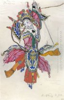 dancer in the procession of the chinese emperor costume design f