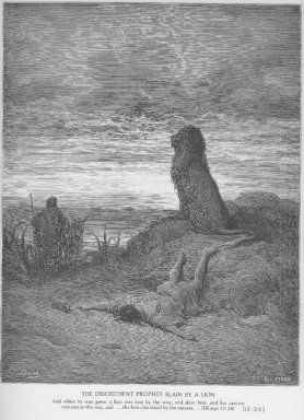 The Disobedient Prophet Is Slain By A Lion