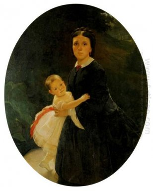 Portrait Of Shestova With Daughter