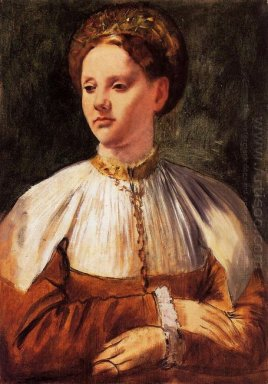 portrait of a young woman after bacchiacca 1859