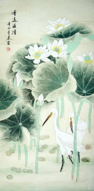 Crane - Lotus - Chinese Painting