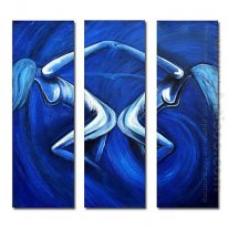 Hand-painted Oil Painting Abstract Oversized Square - Set of 3
