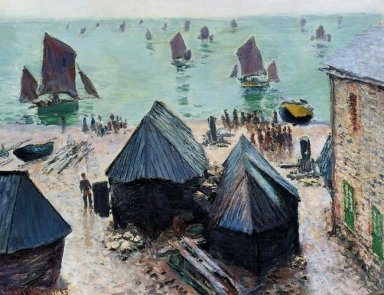 The Departure Of The Boats Etretat