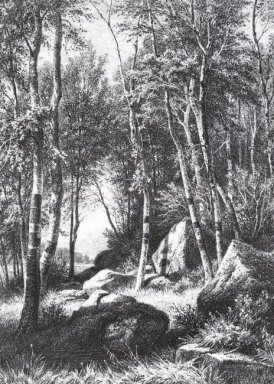 At The Edge Of A Birch Grove Valaam 1860