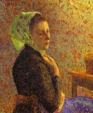 woman wearing a green headscarf 1893