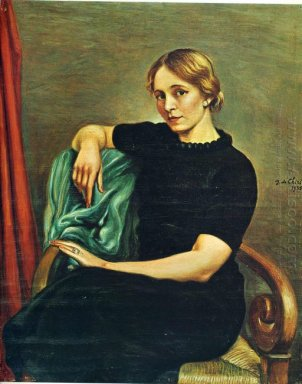 Portrait Of Isa With Black Dress 1935
