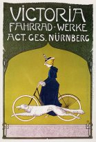 Advertising poster Victoria Fahrradwerke (bicycles)