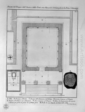 Plan And Elevation Rear Of The Temple Of The Sibyl At Tivoli