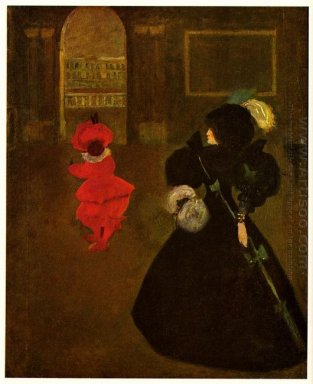 masked woman with a white mouse