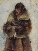 A I Surikov With Fur Coat Study To Taking The Snow Town