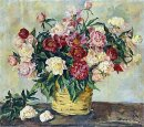 Still Life Peonies In A Basket 1935