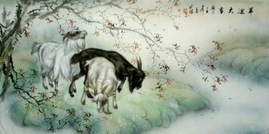Sheep-rest - Chinese Painting