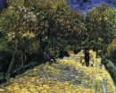 Avenue With Flowering Chestnut Trees At Arles 1889