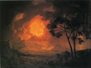 An Eruption Of Mount Vesuvius With The Procession Of St Januariu