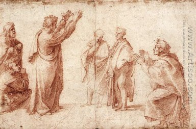 Study For St Paul Preaching In Athens