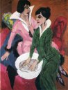 Two Women With Sink