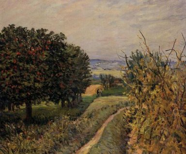 among the vines near louveciennes 1874
