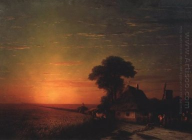 Sunset In Little Russia 1863