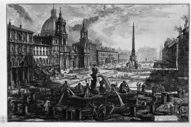 View Of The Piazza Navona On The Ruins Of The Circus Agonale