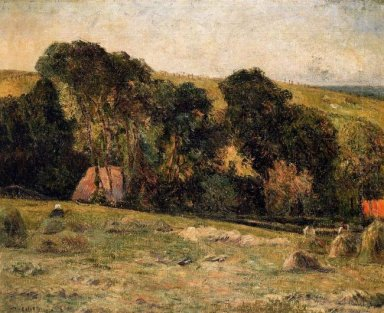 haymaking near dieppe 1885