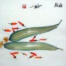 Loofah&Chili - Chinese Painting