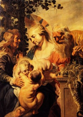 Holy Family With Elizabeth And Child John The Baptist 1615