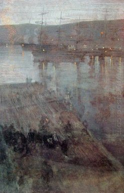 Nocturne In Blue And Gold Valparaiso Bay