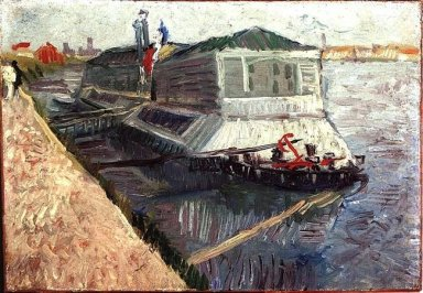 Bathing Float On The Seine At Asnieres 1887