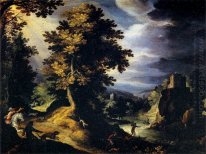 Landscape with Stag Hunt