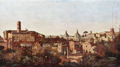 The Forum Seen From The Farnese Gardens Rome 1826