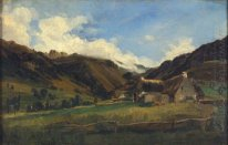 A Hilly Landscape In Auvergne 1831