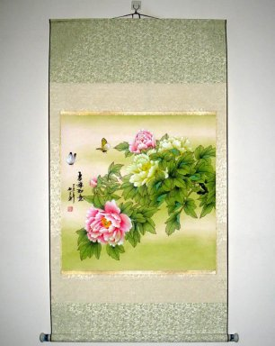 Flowers - Mounted - Chinese Painting