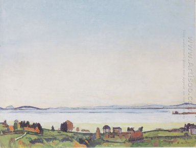 The Lake Geneva From Lausanne 1912