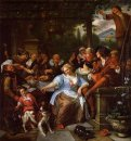 Merry Company On A Terrace 1675