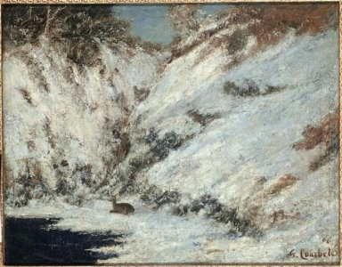 Snow Landscape In Jura 1866