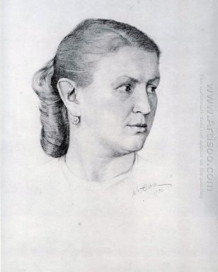 Portrait Of E A Krilova 1950