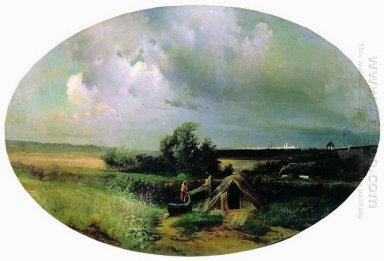 view of moscow from mazilova 1861