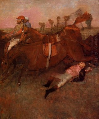 scene from the steeplechase the fallen jockey 1866