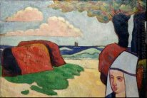 Breton Woman at Haystacks