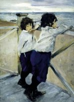 Children Sasha And Yura Serov 1899